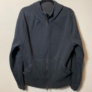 LULULEMON Men's Small Black Zip Up Fleece Hoodie